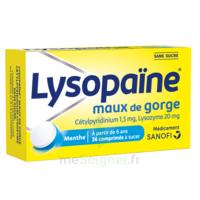 LYSOPAÏNE Comprimés à sucer maux de gorge sans sucre 2T/18 à QUINCAMPOIX