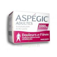 ASPEGIC ADULTES 1000 mg, poudre pour solution buvable en sachet-dose 20 à QUINCAMPOIX