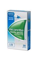 NICORETTE 2 mg Gom à mâcher médic sans sucre menthe glaciale Plq/30gom à QUINCAMPOIX