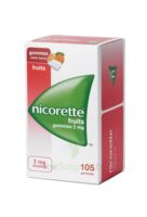 Nicorette 2 mg Gomme à mâcher médicamenteuse sans sucre fruits Plq/105 à QUINCAMPOIX