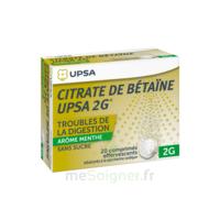 Citrate de Bétaïne UPSA 2 g Comprimés effervescents sans sucre menthe édulcoré à la saccharine sodique T/20 à QUINCAMPOIX