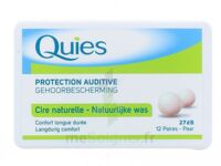 QUIES PROTECTION AUDITIVE CIRE NATURELLE 12 PAIRES à QUINCAMPOIX