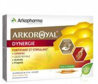 Arkoroyal Dynergie Ginseng Gelée Royale Propolis Solution Buvable 20 Ampoules/10ml à QUINCAMPOIX