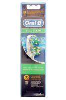BROSSETTE DE RECHANGE ORAL-B DUAL CLEAN x 3 à QUINCAMPOIX