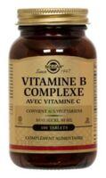 SOLGAR VITAMINE B COMPLEXE avec vitamine C /100 à QUINCAMPOIX