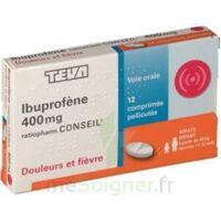 IBUPROFENE TEVA CONSEIL 400 mg, comprimé pelliculé à QUINCAMPOIX