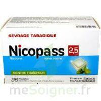 Nicopass 2,5 mg Pastille menthe fraîcheur sans sucre Plq/96 à QUINCAMPOIX