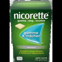 NICORETTE 2 mg Gom à mâcher médic sans sucre menthe fraîche Plq/105gom à QUINCAMPOIX