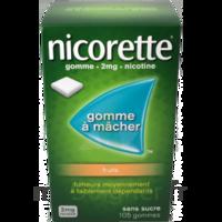Nicorette 2 mg Gomme à mâcher médicamenteuse sans sucre fruits Plq/30 à QUINCAMPOIX