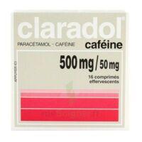 CLARADOL CAFEINE 500 mg/50 mg, comprimé effervescent à QUINCAMPOIX