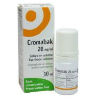 CROMABAK 20 mg/ml, collyre en solution à QUINCAMPOIX