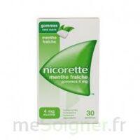 NICORETTE 4 mg Gom à mâcher médic sans sucre menthe fraîche Plq/30gom à QUINCAMPOIX