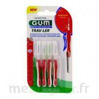 GUM TRAV - LER, 0,8 mm, manche rouge , blister 4 à QUINCAMPOIX