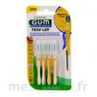 GUM TRAV - LER, 1,3 mm, manche jaune , blister 4 à QUINCAMPOIX
