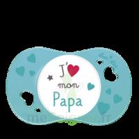 """Luc et Léa Sucette symétrique +6mois """"j'aime mon papa"""" B/1 à QUINCAMPOIX"""