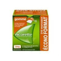 Nicorette 2 Mg Gomme à Mâcher Médicamenteuse Sans Sucre Fruits Plq/210 à QUINCAMPOIX