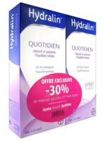 Hydralin Quotidien Gel lavant usage intime 2*200ml à QUINCAMPOIX