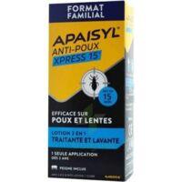Apaisyl Anti-poux Xpress Lotion Antipoux Et Lente 300ml à QUINCAMPOIX