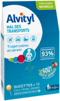 Alvityl Sucette Mal Des Transports B/10 à QUINCAMPOIX