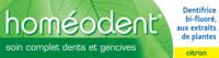Boiron Homéodent Soin Complet Dents et Gencives Pâte Dentifrice Citron 2T/75ml à QUINCAMPOIX