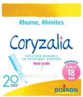 Boiron Coryzalia Solution buvable unidose B/20 à QUINCAMPOIX